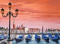 デイヴィッド・ロイド・グローバー 「Venice Gondolas」