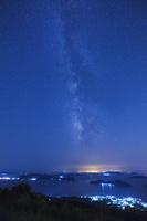 山口県 大星山展望台より瀬戸内海と天の川