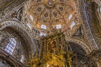 メキシコ プエブラ サント・ドミンゴ教会/ロサリオ礼拝堂の天...