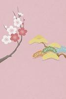 梅と松 イラスト
