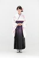 袴を着た女子大生