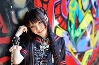 ゴスロリファッションの日本の女の子