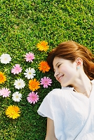 花と日本人女性
