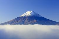 山梨県 御坂峠より雲海に浮かぶ富士山