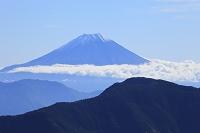 静岡県 富士見平 富士山と山並み