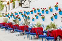 スペイン ミハス レストランのテーブル