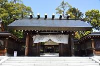宮津 籠神社山門から本殿