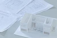 設計図と建築模型