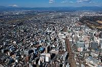 東京都 立川駅から富士山