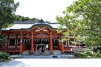 和歌山県 淡島神社本殿 茅輪