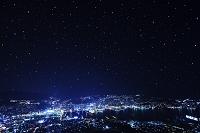 長崎県 長崎港と長崎市外 星空