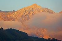 長野県 朝の白馬鑓ケ岳