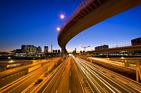 東京都 首都高速湾岸線の夕景