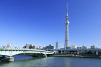 東京都 隅田川と東京スカイツリーと言問橋