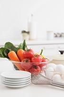 調理用具と野菜