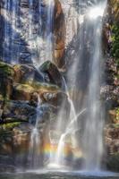和歌山県 木漏れ日の桑ノ木の滝と虹