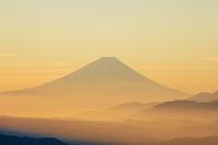 長野県 富士山朝景