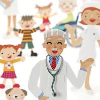 医者と看護師と患者のクラフト