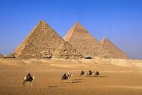 エジプト ピラミッド 隊商