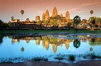 カンボジア アンコールワット 夕景