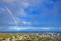 ハワイ 虹とダイヤモンドヘッド