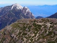 南アルプス千丈岳より甲斐駒ケ岳を望む