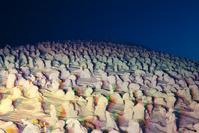 山形県 ライトアップの蔵王の樹氷
