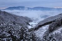 奈良県 金剛山と葛城山 多武峰より撮影