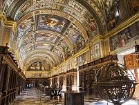 スペイン エル・エスコリアル修道院の図書館