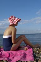 外国人女性 海水浴