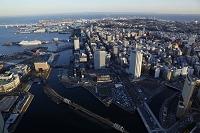 神奈川県 ランドマークタワーより横浜港
