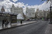 スペイン バレンシア バス通り