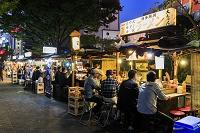 福岡県 中洲屋台街 夜景