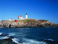 アメリカ・メイン州 ケープ・ネディック灯台(ナブル灯台)