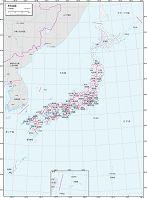 日本全図 白地図