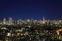 東京都 東京タワー 恵比寿から 夜景
