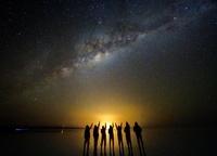 ボリビア 天の川とウユニ塩湖