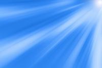青色と白色の線と光 CG