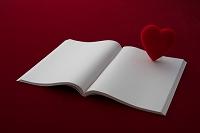 白紙の本とハート