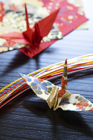 折り鶴と水引