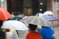 雨の日の通行人