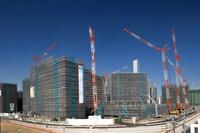 東京都 オリンピック選手村の建設現場
