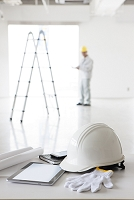 建設作業員の卓上