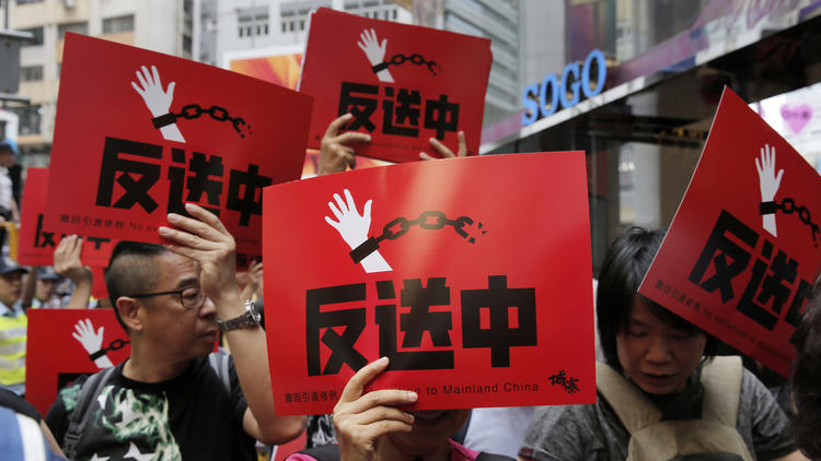 香港「逃亡犯条例」改正巡り混乱続く