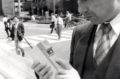 携帯電話の登場(1980年代)
