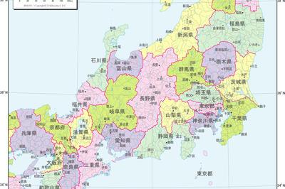 日本行政区分図