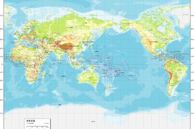 世界地勢図