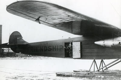 女性初の大西洋横断飛行成功(1928年6月)