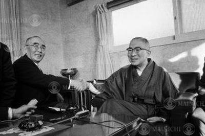 石橋湛山が新総裁に(1956年12月14日)