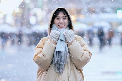 冬の日本人素材